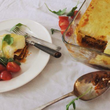 Lasagne bolognese met bechamelsaus